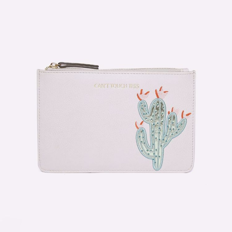 Picture of White Leather Purse