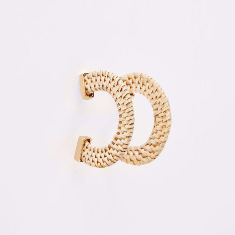 Picture of Raffia Hoop Earrings