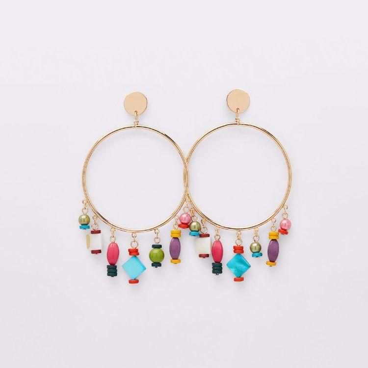 Picture of Beaded Hoop Earrings