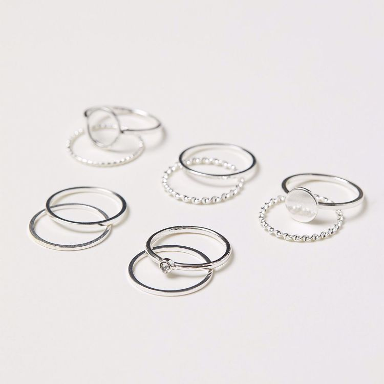 Picture of 10-Pack Silver Rings