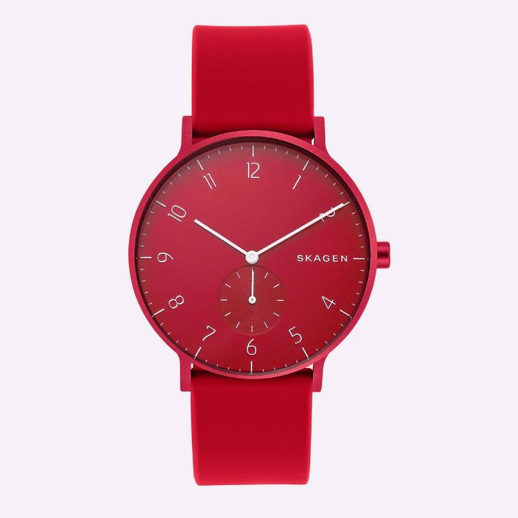 Picture of Canteen Leather Watch - Red